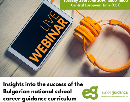 WEBINAR - Insights into the success of the Bulgarian national school career guidance curriculum