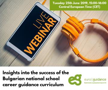 WEBINAR - Insights into the success of the Bulgarian national school career guidance curriculum