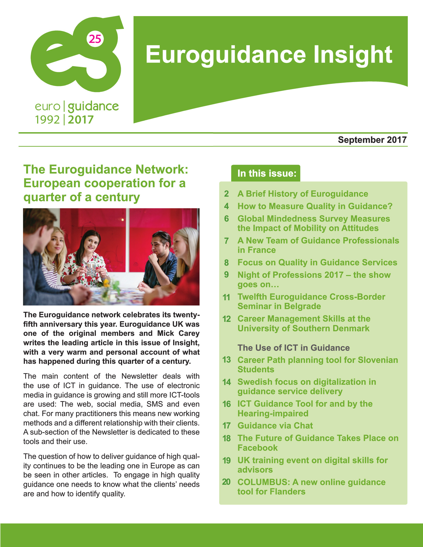 Insight Autumn 2017 | Euroguidance Network